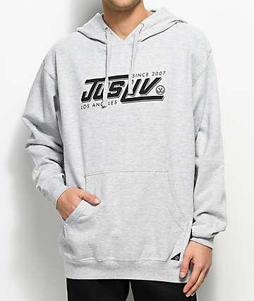 JSLV Speed sudadera con capucha en gris jaspeado