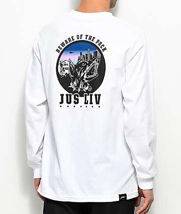 JSLV The Pack camiseta blanca de manga larga