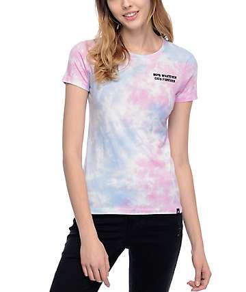 JV By Jac Vanek Boys Whatever camiseta con efecto tie dye
