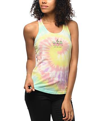 JV By Jac Vanek Don't Be A Prick Tie Dye Tank Top