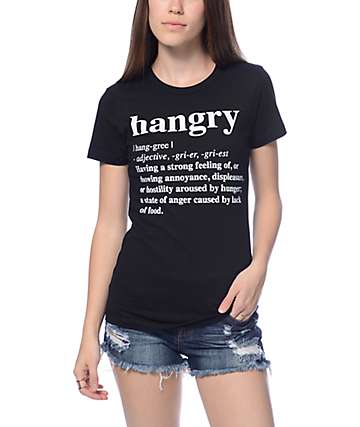 JV By Jac Vanek Hangry Black T-Shirt