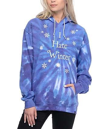JV By Jac Vanek I Hate Winter sudadera con capucha con efecto tie dye