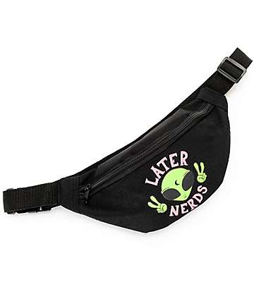 JV By Jac Vanek Later Nerds Black Fanny Pack