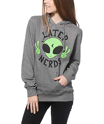 JV By Jac Vanek Later Nerds Grey Hoodie