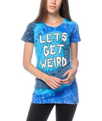 JV By Jac Vanek Let's Get Weird Cloud Tie Dye T-Shirt