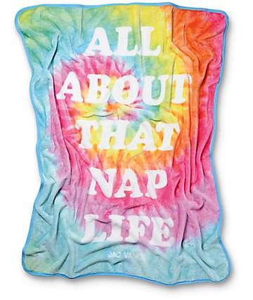 JV By Jac Vanek Nap Life Rainbow Tie Dye Blanket