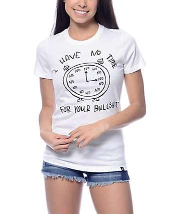 JV By Jac Vanek No Time For Bullshit White T-Shirt