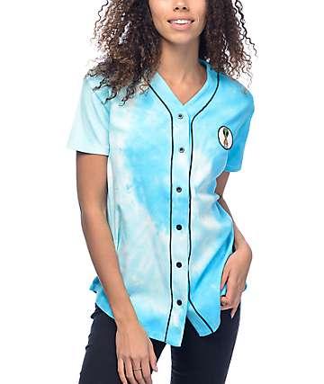 JV By Jac Vanek Pizza Alien camiseta azul con efecto tie dye