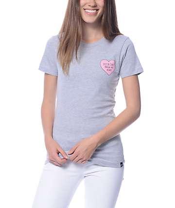 JV By Jac Vanek Pizza Can't Break My Heart Grey T-Shirt