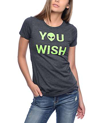 JV By Jac Vanek You Wish Alien Grey T-Shirt