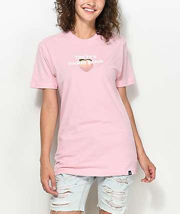 JV By Jac Vanek You're A Fuckin Peach camiseta en color melocotón