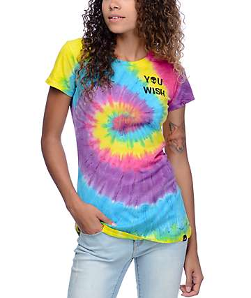 JV by Jac Vanek Alien Swirl Multi Color Tie Dye T-Shirt