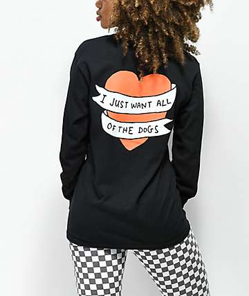 JV by Jac Vanek All The Dog Heart Black Long Sleeve T-Shirt