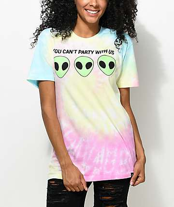 JV by Jac Vanek Can't Party Tie Dye T-Shirt
