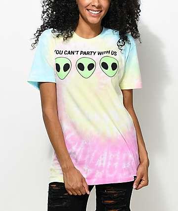 JV by Jac Vanek Can't Party camiseta con efecto tie dye