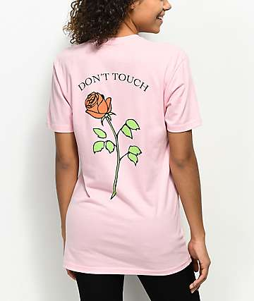 JV by Jac Vanek Don't Touch Rose camiseta rosa