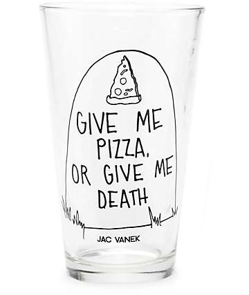 JV by Jac Vanek Give Me Pizza Pint Glass