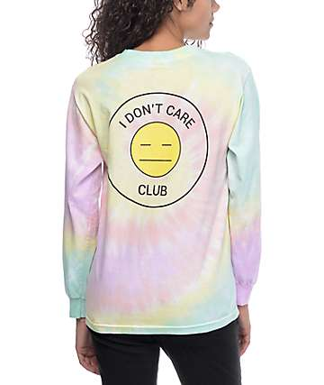 JV by Jac Vanek I Dont Care Club Tie Dye Long Sleeve T-Shirt