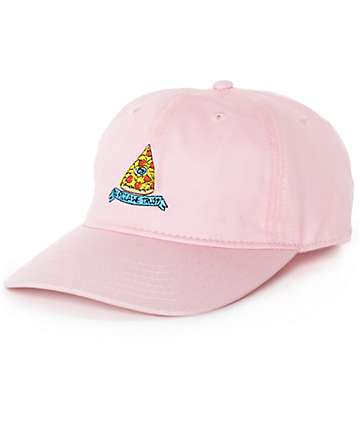 JV by Jac Vanek In Pizza We Trust Pink Strapback Baseball Hat