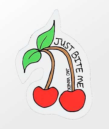 JV by Jac Vanek Just Bite Me Sticker
