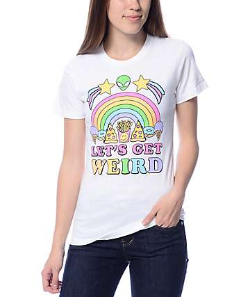 JV by Jac Vanek Let's Get Weird White T-Shirt