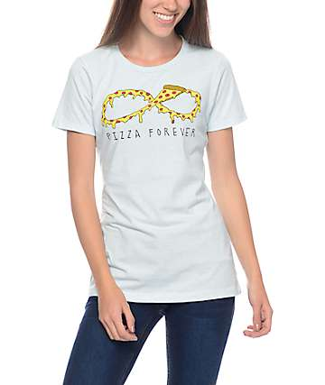 JV by Jac Vanek Pizza Forever Blue T-Shirt