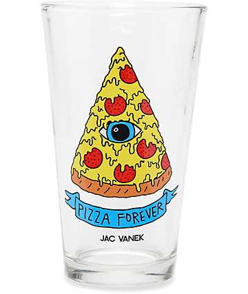 JV by Jac Vanek Pizza Forever Pint Glass