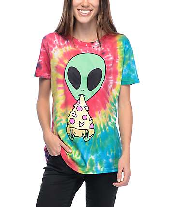 JV by Jac Vanek Pizza Nerd Tie Dye T-Shirt