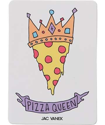 JV by Jac Vanek Pizza Queen pegatina