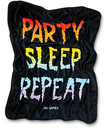 JV by Jac Vanek Repeat Black Blanket