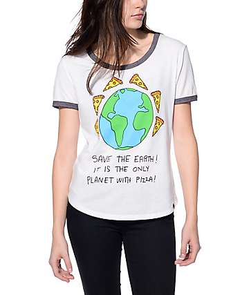 JV by Jac Vanek Save the Earth Ringer T-Shirt
