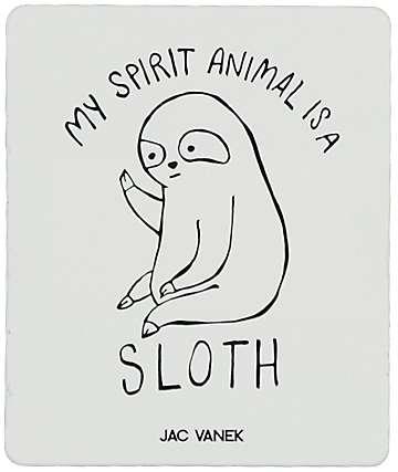 JV by Jac Vanek Spirit Sloth Sticker