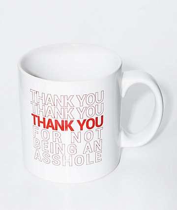 JV by Jac Vanek Thank You White Mug