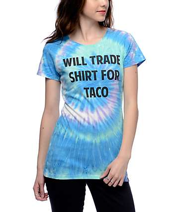 JV by Jac Vanek Will Trade Taco Tie Dye T-Shirt