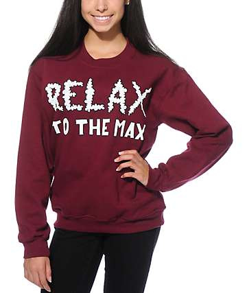 Jac Vanek Relax To The Max Crew Neck Sweatshirt
