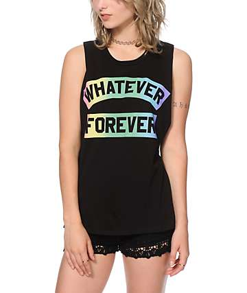 Jac Vanek Whatever Forever Muscle Tee