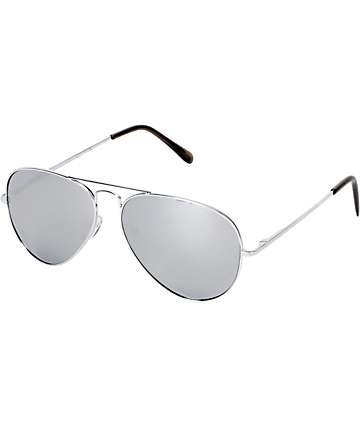 Jack Martin Aviator Silver Sunglasses
