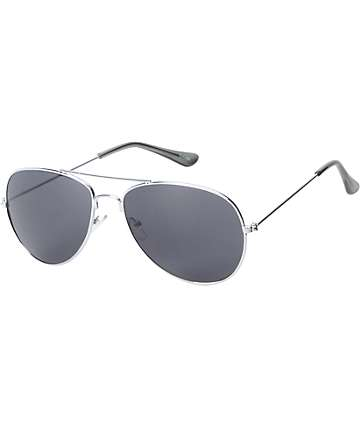 Jack Martin Bullet Proof Silver Aviator Sunglasses