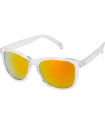 Jack Martin Motosurf Clear & Orange Sunglasses