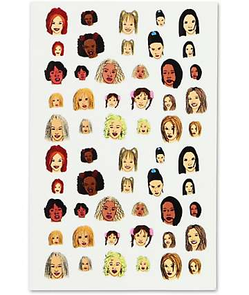Jane's Tiny Things Girl Power Nail Decals