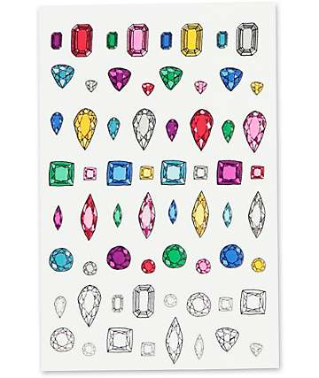 Janes Tiny Things Gem Motif Nail Decals