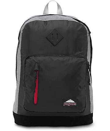 Jansport Axiom Black Polyester Ripstop & Grey Marl 31L Backpack