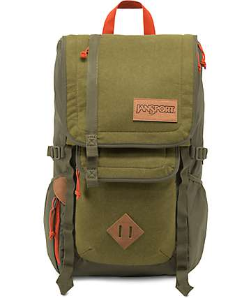 Jansport Hatchet Special Edition Army Green Felt 28L Backpack