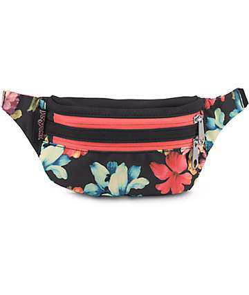 Jansport Hippyland Floral & Black Fanny Pack