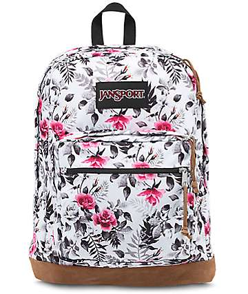Jansport Right Pack White Floral Backpack