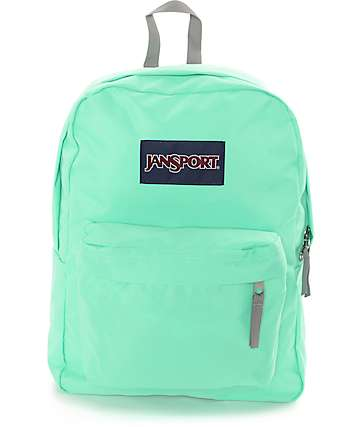 Jansport Superbreak Seafoam Green Backpack