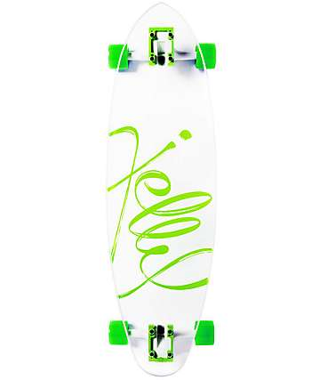 "Jelly Man O' War 34"" Lime Pintail Longboard Complete"