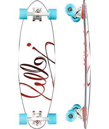"Jelly Man O' War 34"" Burn Pintail Longboard Complete"