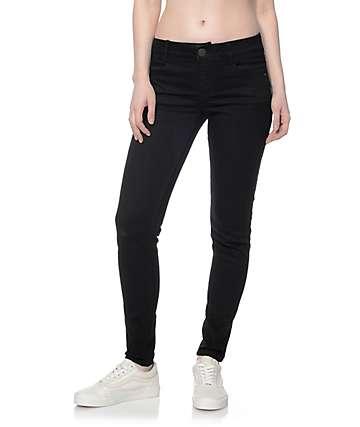 Jolt Techno Tuck Black Skinny Jeans