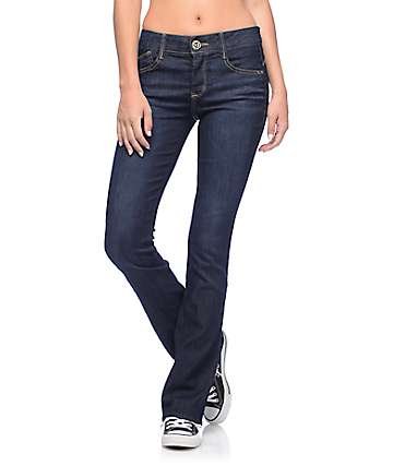 Jolt Techno Tuck Dark Wash Skinny Boot Jeans
